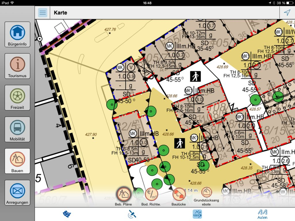 Aalen Geo App Dsl Phone Jack Wiring Diagram Auf Dem Tablet